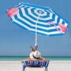 Зонт пляжный с регулируемой высотой и наклоном Springos (BU0013) - голубой, 180 см - Фото №5
