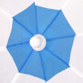 Зонт пляжный с регулируемой высотой и наклоном Springos (BU0013) - голубой, 180 см - Фото №7