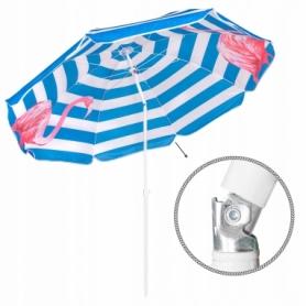 Зонт пляжный с регулируемой высотой и наклоном Springos (BU0013) - голубой, 180 см - Фото №8