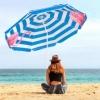 Зонт пляжный с регулируемой высотой и наклоном Springos (BU0013) - голубой, 180 см - Фото №9