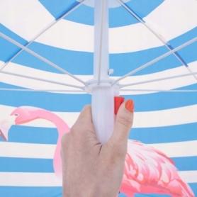 Зонт пляжный с регулируемой высотой и наклоном Springos (BU0013) - голубой, 180 см - Фото №10