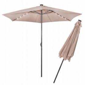 Зонт садовый с LED подсветкой (автономная) Springos (GU0006), 300 см