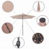 Зонт садовый с LED подсветкой (автономная) Springos (GU0006), 300 см - Фото №2