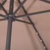 Зонт садовый с LED подсветкой (автономная) Springos (GU0006), 300 см - Фото №5
