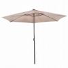 Зонт садовый с LED подсветкой (автономная) Springos (GU0006), 300 см - Фото №8