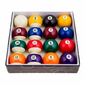 Набор шаров для бильярда, 68 мм (68DC)