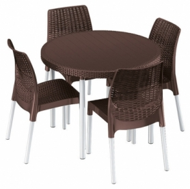 Комплект садовой мебели Jersey set Keter (7290106925007), коричневый