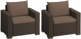 Комплект кресел Сalifornia chair Allibert (8711245143545), 2 шт