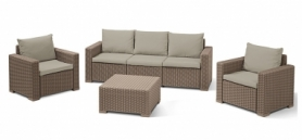 Комплект садовой мебели California 3 seater Allibert (3253929127021), бежевый