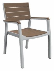 Стул пластиковый Harmony armchair Keter (7290106926431), бело-бежевый