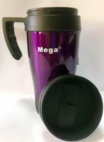 Термочашка PR040 Mega (0717040761241V) - фиолетовая, 0,4л - Фото №3