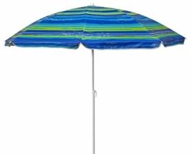 Зонт пляжный с наклоном TE-018 Time Eco (4820211100896STRIPE) - полосатый, 1,8м