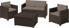 Комплект садовой мебели Monaco set Allibert (8711245128207), коричневый