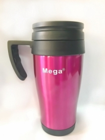Термочашка PR040 Mega (0717040761241BORDO) - розовая, 0,4л