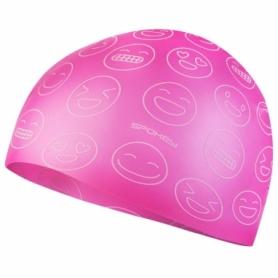 Шапочка для плавания детская Spokey Emoji (SL927910) (original), розовая