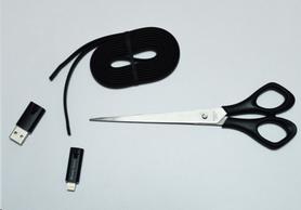 Распродажа*! Многоразовый кабель Newly Born Repairable USB - Lightning (для Iphone), черный - Фото №2