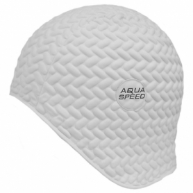 Шапочка для плавания Aqua Speed Bombastic Tic-Tac (original) (SL49736), белая