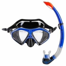 Набор для плавания (маска и трубка) Dolvor (М289P+SN09P)