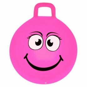 Мяч-прыгун (фитбол) детский с ручкой Spokey Emoti1 (925484) - розовый, 45см