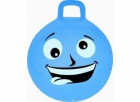 Мяч-прыгун (фитбол) детский с ручкой Spokey Emoti2 (925486) - голубой, 45см