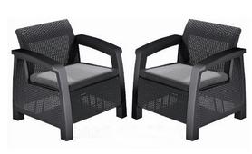 Кресло Bahamas Keter (3253929000478), серый
