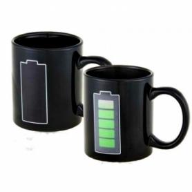 Чашка хамелеон Батарейка CDRep (FO-100876) - черная, 0,25 л