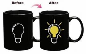 Чашка-хамелеон Лампочка CDRep (FO-100877) - черная, 0,25 л