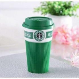 Чашка керамическая кружка Starbucks Green CDRep (FO-109068) - зеленая, 0,35 л
