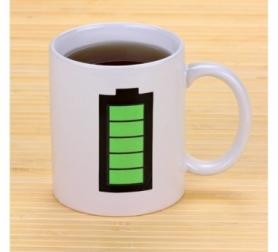 Чашка хамелеон Батарейка CDRep (FO-111077) - белая, 0,25 л