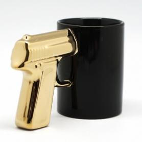 Чашка Пистолет с золотой ручкой CDRep (FO-112867), 0,3 л