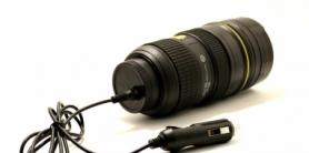 Термокружка Фотообъектив с подогревом от прикуривателя CDRep (FO-114497), 0,4 л