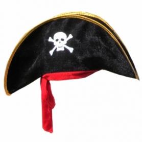Шляпа Пирата с красной повязкой велюр CDRep (FO-114679)