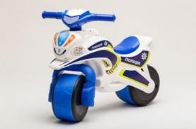 Беговел музыкальный CDRep Active Baby Police (FO-117914), бело-синий
