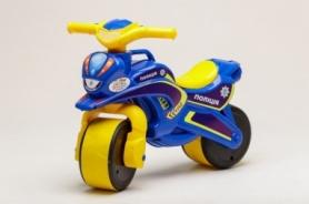 Беговел музыкальный CDRep Active Baby Police  (FO-117915), сине-желтый