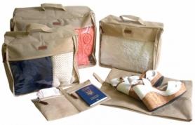 Набор дорожных сумок CDRep (FO-122102) - бежевый, 5шт