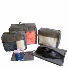 Набор дорожных сумок CDRep (FO-122103) - серый, 5шт