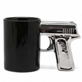 Чашка Пистолет с серебряной ручкой CDRep (FO-123656), 0,3 л