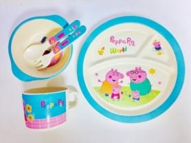 Набор бамбуковой посуды из 5 предметов CDRep Peppa Pig (FO-123711)