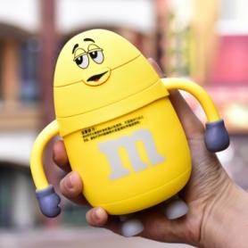 Термос детский с трубочкой M&Ms CDRep (FO-123804) - желтый, 0,25 л