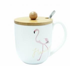 Кружка с крышкой CDRep Фламинго (FO-123925)