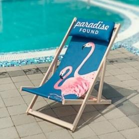 Шезлонг складной для пляжа CDRep Розовые Фламинго (FO-123945)