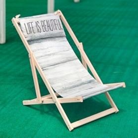 Шезлонг складной для пляжа CDRep Life is beautiful (FO-123946)