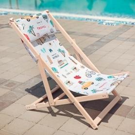 Шезлонг складной для пляжа и бассейна CDRep Travel (FO-123947)