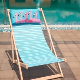 Шезлонг складной для пляжа и бассейна CDRep Фламинго (FO-123948)