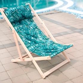 Шезлонг складной для пляжа и бассейна CDRep Листья (FO-123949)