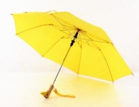 Зонт с деревянной ручкой CDRep голова утки (FO-124015), желтый