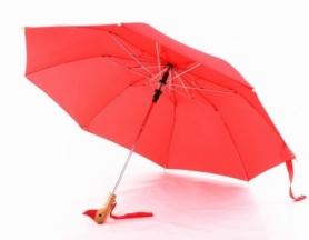 Зонт с деревянной ручкой CDRep голова утки (FO-124016), красный