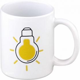Чашка-хамелеон Лампочка CDRep (FO-124350) - белая, 0,25 л