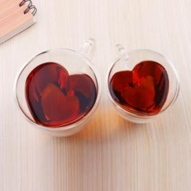 Распродажа*! Чашка для кофе с двойным дном Сердце CDRep (FO-124367), 0,15 л