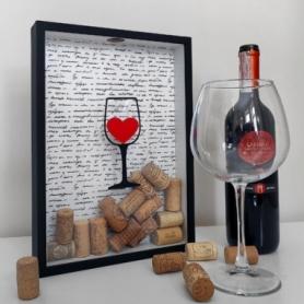 Копилка для винных пробок CDRep Сердце в бокале (FO-124560)